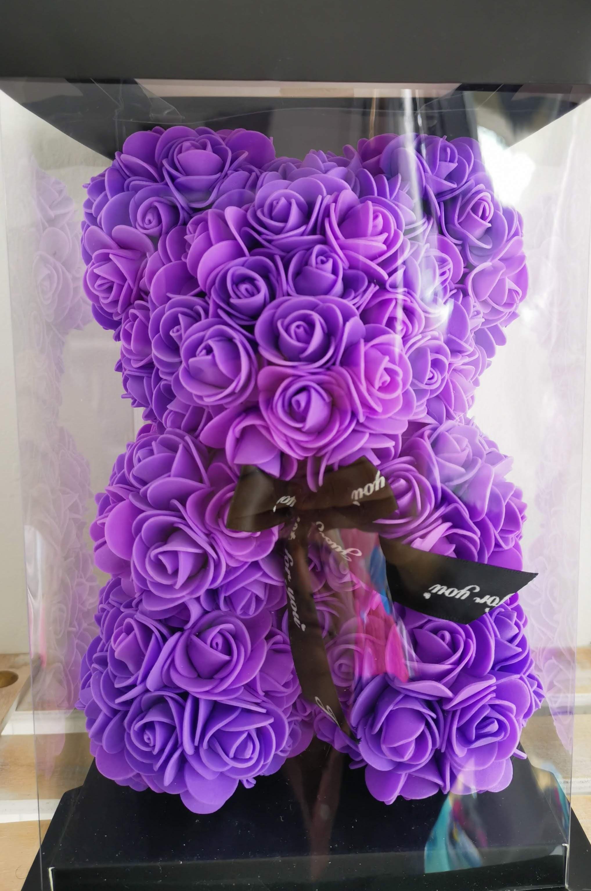 Rose Bear 28cm - Lavender