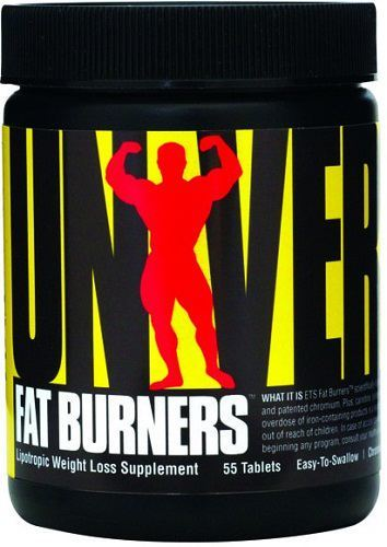 UNIVERSAL EASY TO SWALLOW FAT BURNERS - 55 CAPSULES