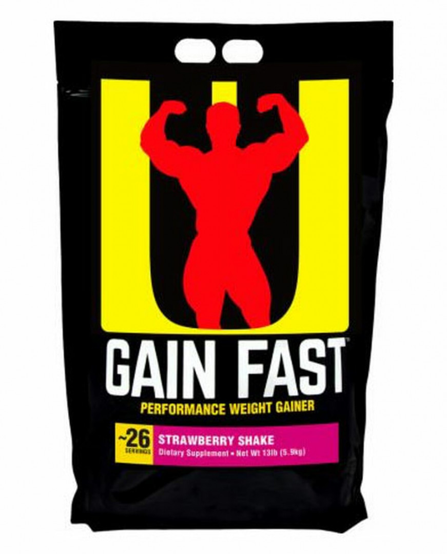 GAIN FAST PERFORMANCE WEIGHT GAINER - STRAWBERRY SHAKE 5.9KG