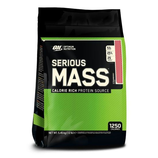 ON OPTIMUM NUTRITION SERIOUS MASS - STRAWBERRY 5.450KG