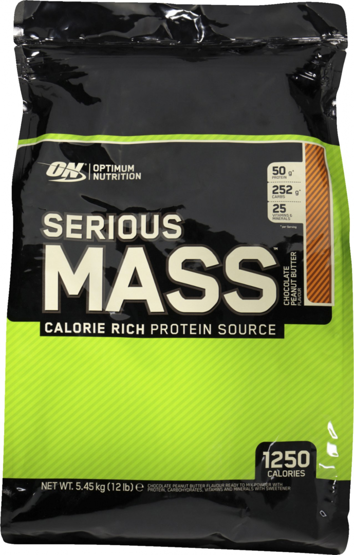 ON OPTIMUM NUTRITION SERIOUS MASS - CHOCOLATE PEANUT BUTTER 5.450KG
