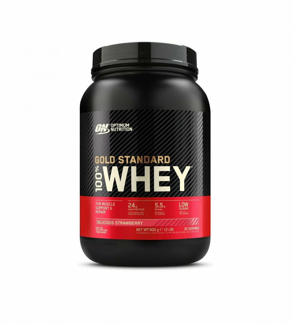 ON OPTIMUM NUTRITION GOLD STANDARD WHEY - DELICIOUS STRAWBERRY 896G