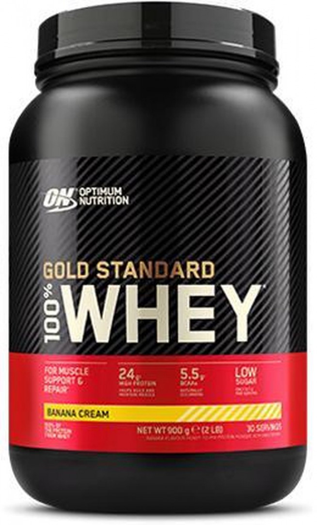 ON OPTIMUM NUTRITION GOLD STANDARD WHEY - BANANA CREAM 896G