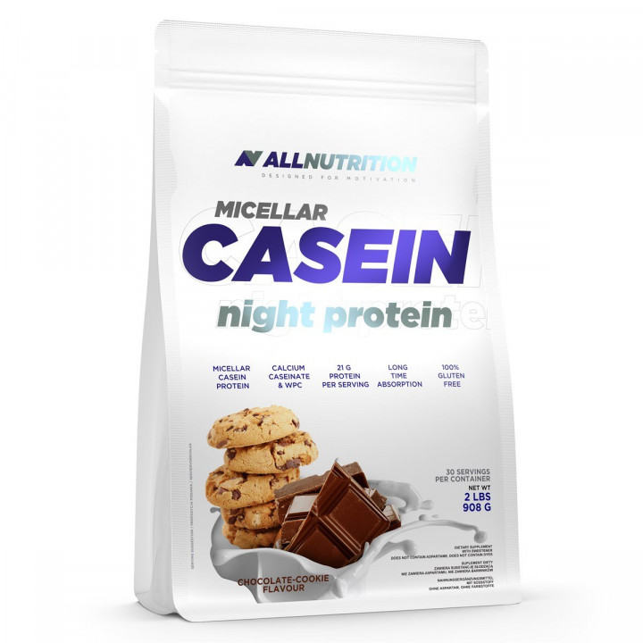 ALL NUTRITION MICELLAR CASEIN NIGHT PROTEIN - CHOCOLATE COOKIE FLAVOUR 908G