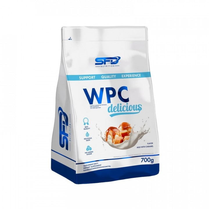 SFD WPC DELICIOUS - MILK WITH CARAMEL 700G