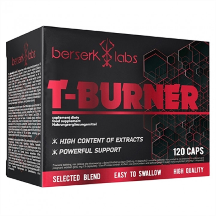 BERSERK LABS T-BURNER - 120 CAPSULES