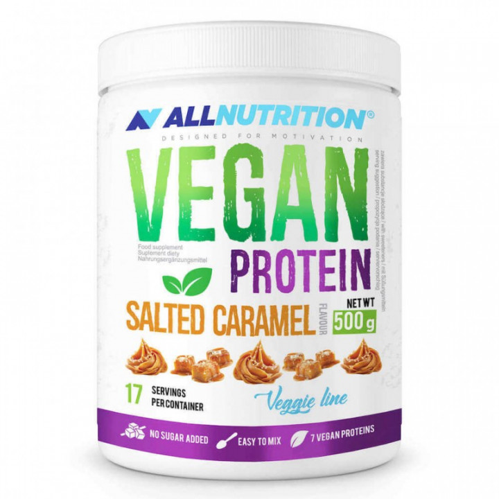 ALL NUTRITION VEGAN PROTEIN - SALTED CARAMEL 500G
