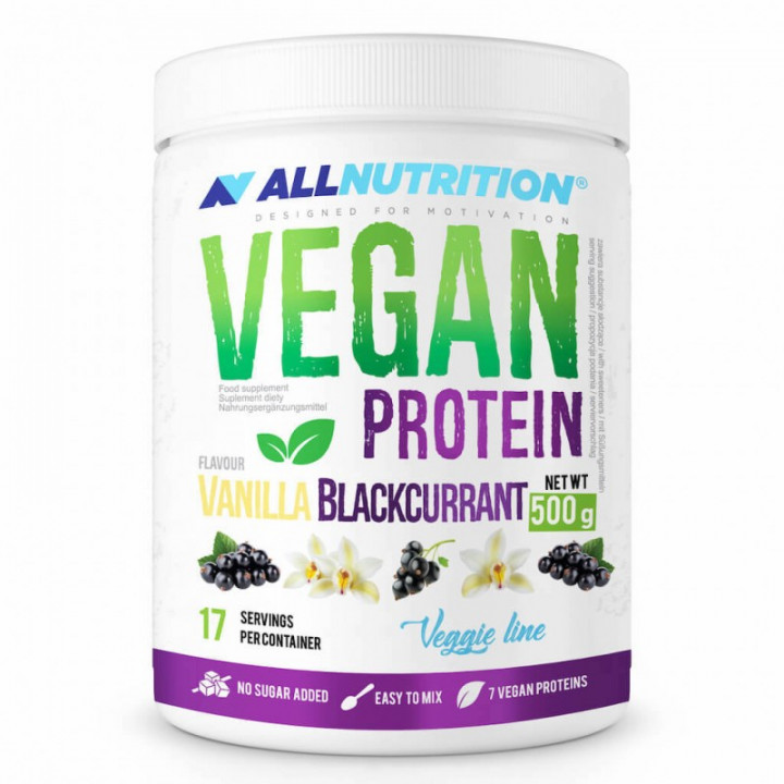 ALL NUTRITION VEGAN PROTEIN - VANILLA BLACKCURRANT 500G