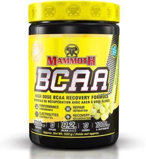 MAMMOTH BCAA 2:1:1 - WHITE GRAPE / RAISIN BLANC 520G