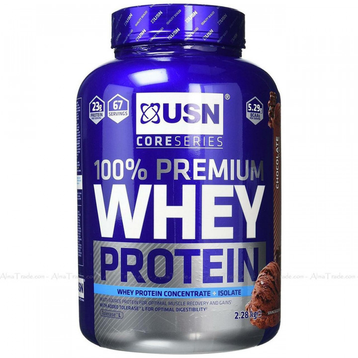 USN CORE SERIES 100% PREMIUM WHEY PROTEIN ISOLATE - CHOCOLATE 2.28KG