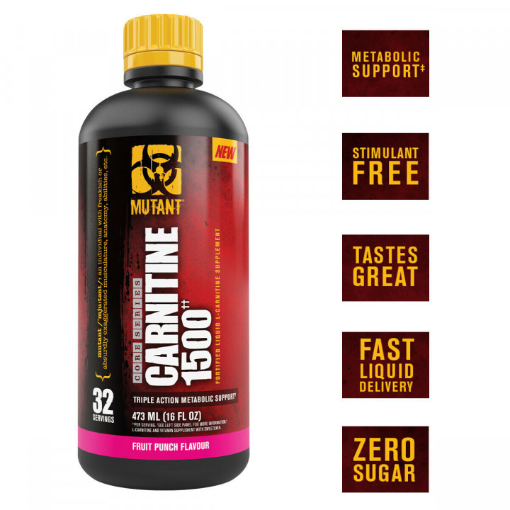 MUTANT CARNITINE 1500 - FRUIT PUNCH FLAVOUR 473ML