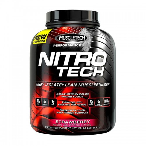 MUSCLETECH NITRO TECH WHEY PEPTIDES & ISOLATE PRIMARY SOURCE - STRAWBERRY 1.81KG