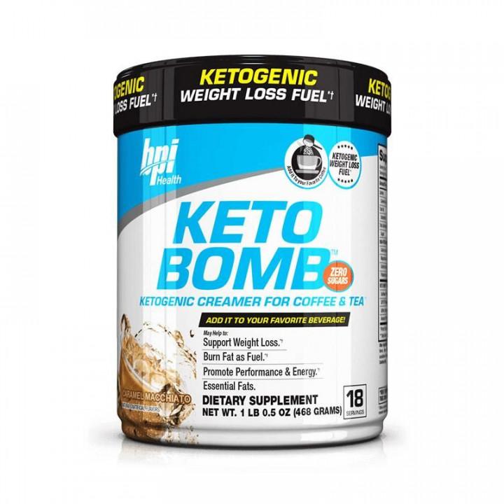 BPI SPORTS KETO BOMB - CARAMEL MACHIATTO 468G