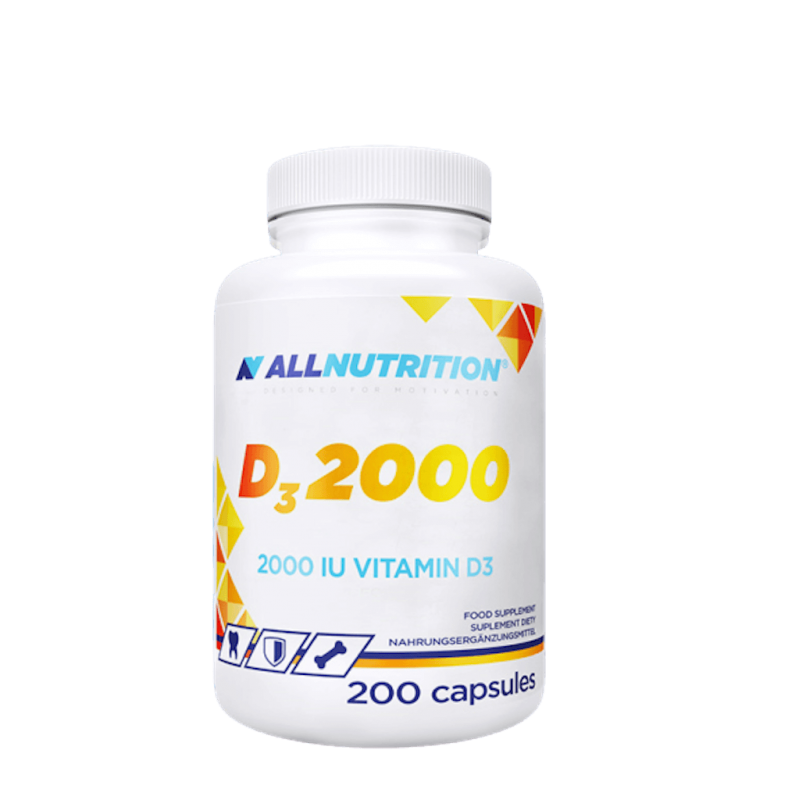 ALL NUTRITION D3 2000IU - 200 CAPSULES