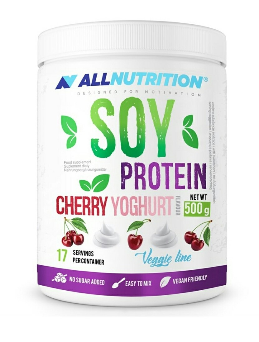 All Nutrition SOY Protein Cherry Yoghurt 500G
