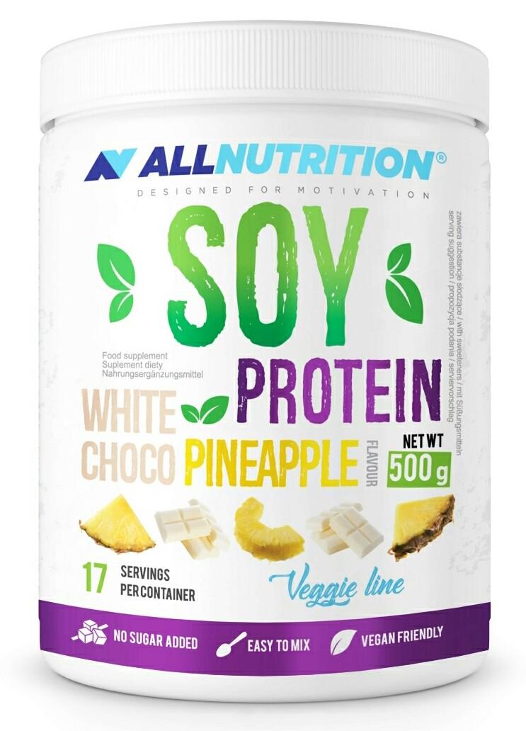 All Nutrition SOY Protein - White Choco - Pineapple 500G