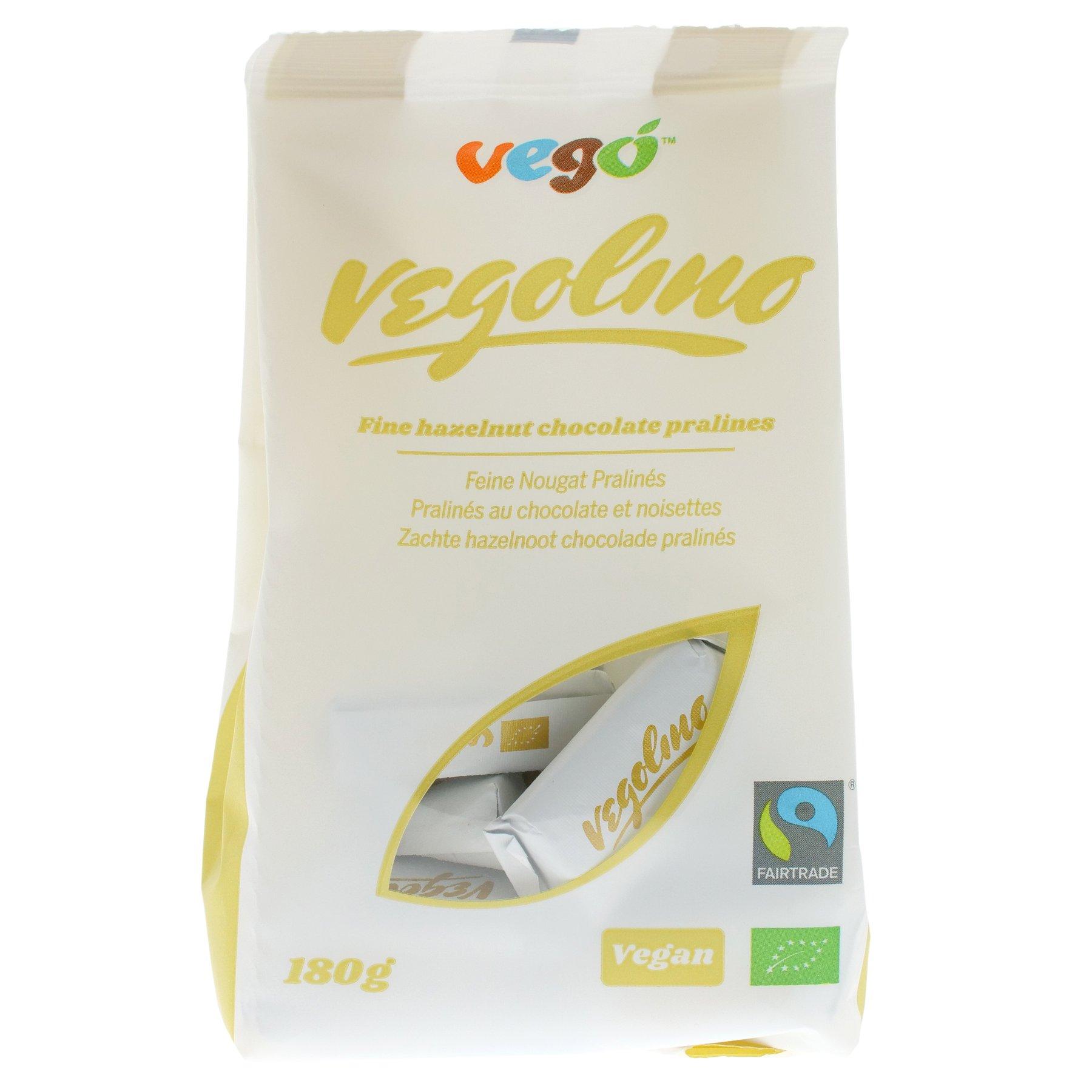 VEGOLINO - FINE HAZELNUT CHOCOLATE PRALINES VEGAN - 180g