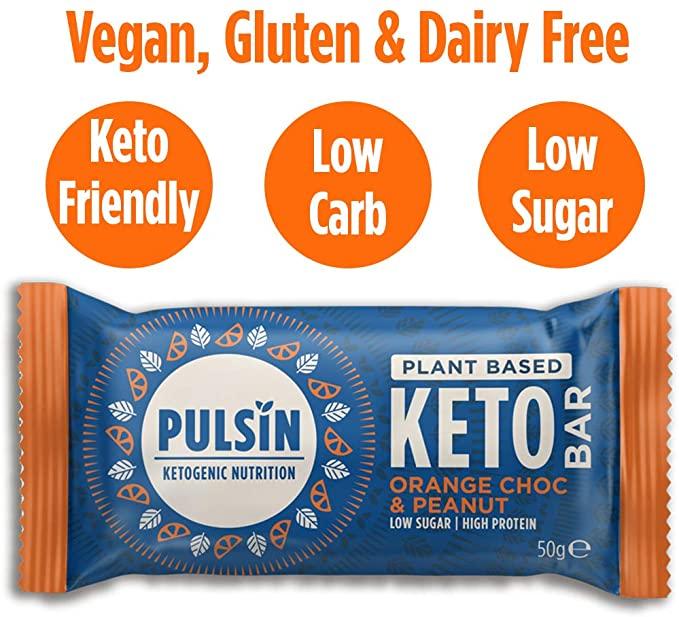 PULSIN - KETO ORANGE CHOC & PEANUT BAR