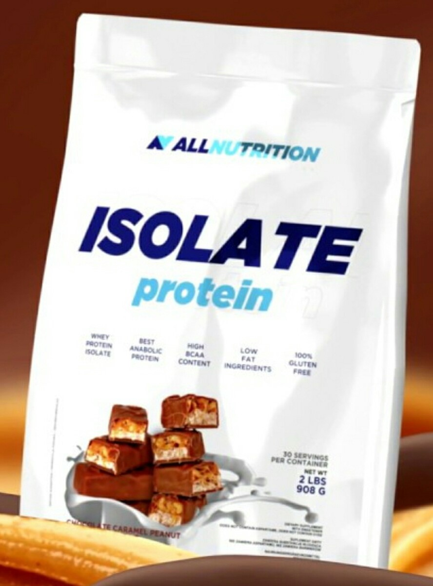 All Nutrition Isolate Protein Bag 908G - Chocolate Caramel Peanut