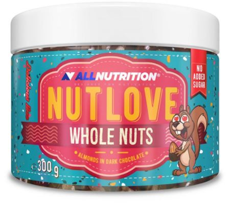 ALL NUTRITION NUTLOVE WHOLENUTS 300g – Almonds In Dark Chocolate