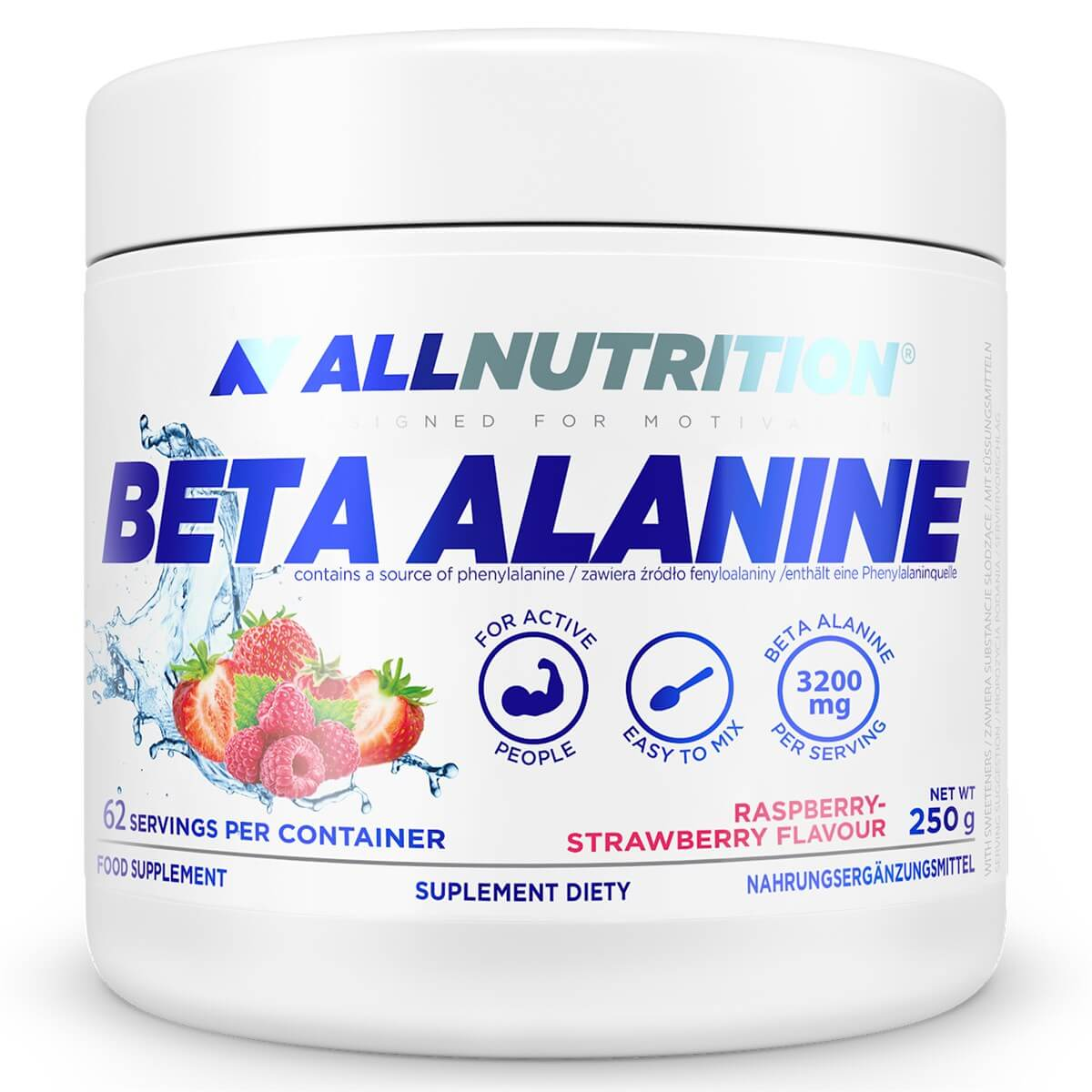 ALLNUTRITION BETA ALANINE ENDURANCE MAX 250 GR - Raspberry Strawberry