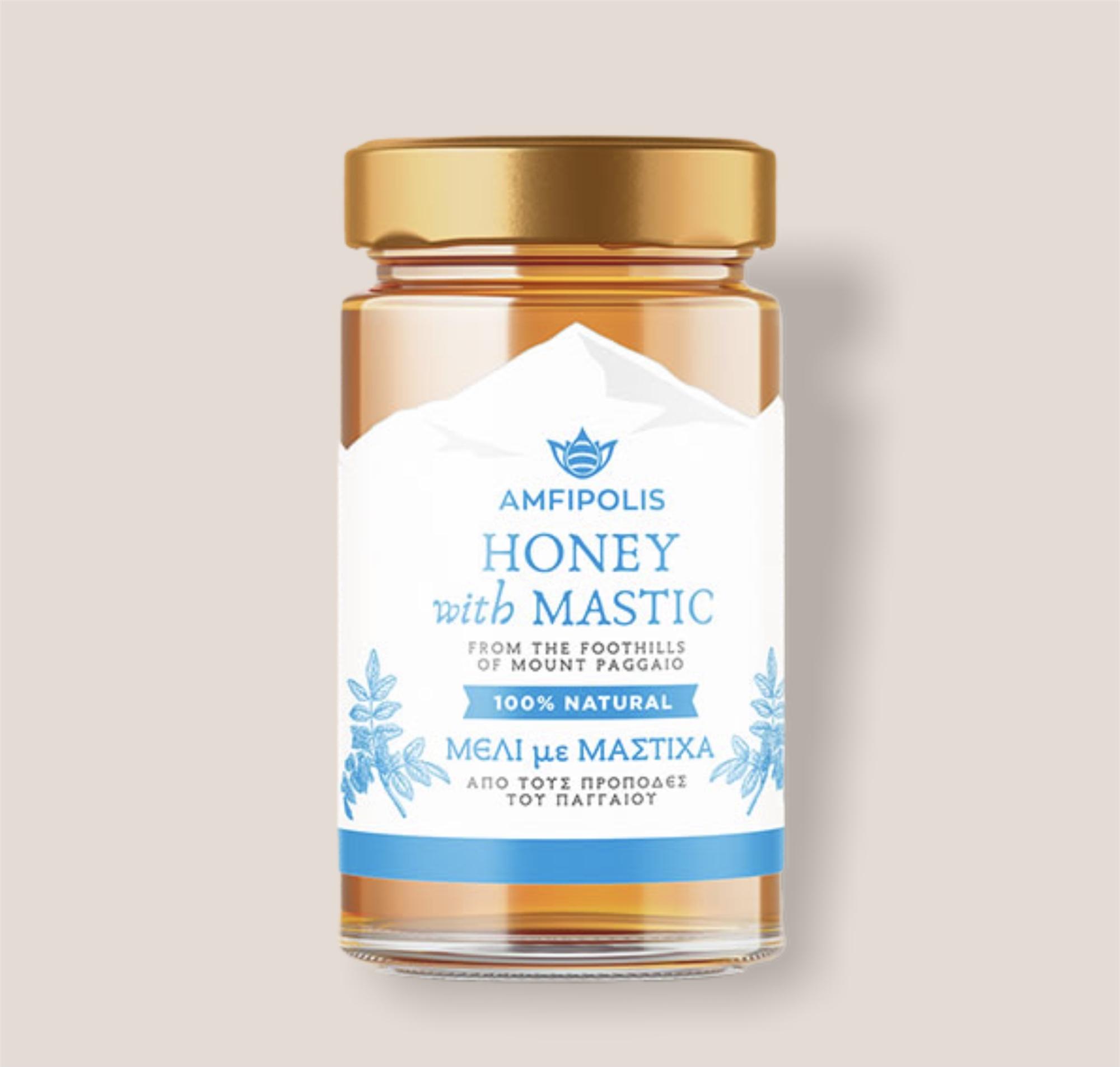 Amfipolis Honey with Mastic 400g