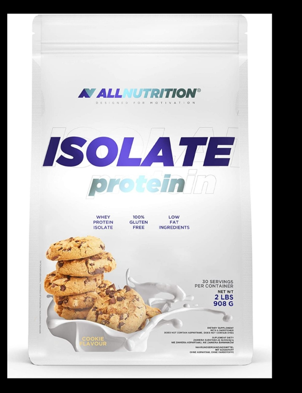 All Nutrition Isolate protein bag 908 G -Cookies and Banana