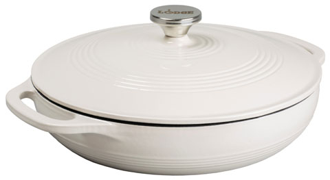 Lodge Dutch oven - Oyster White with loop handles (3,4lt)