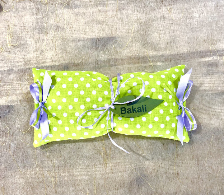 Handmade pillow with lavender - Green