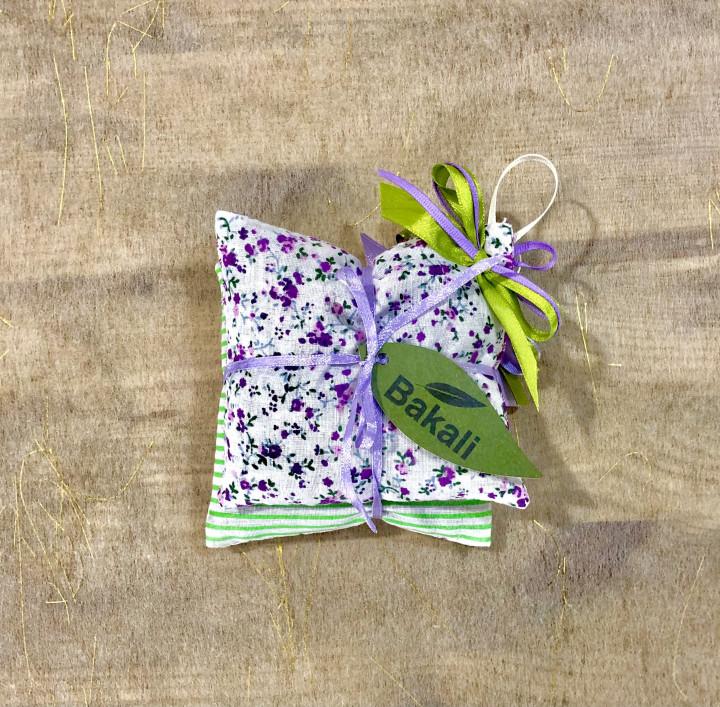 Handmade pillow with levander - Purple Flowers