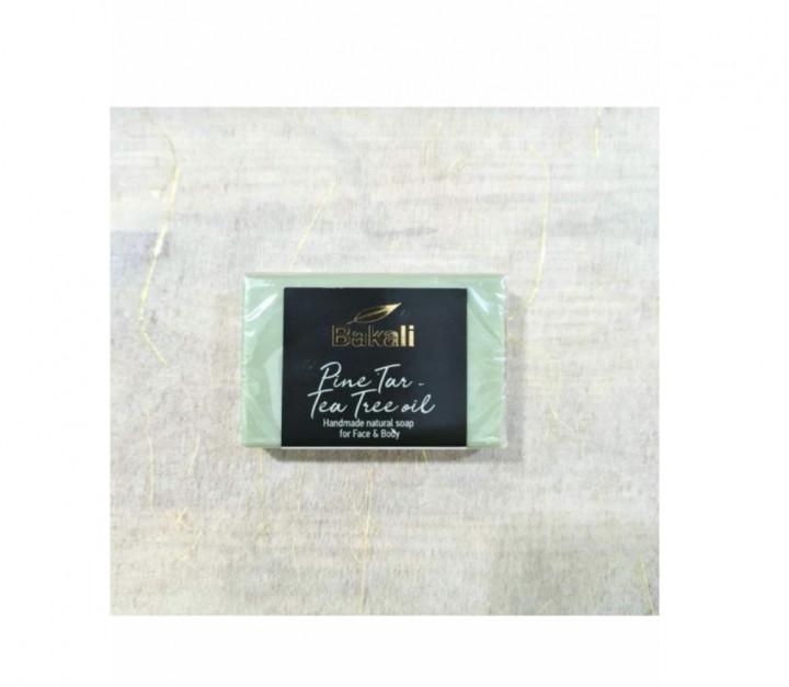Handmade Soap With pine tar and tea tree oil