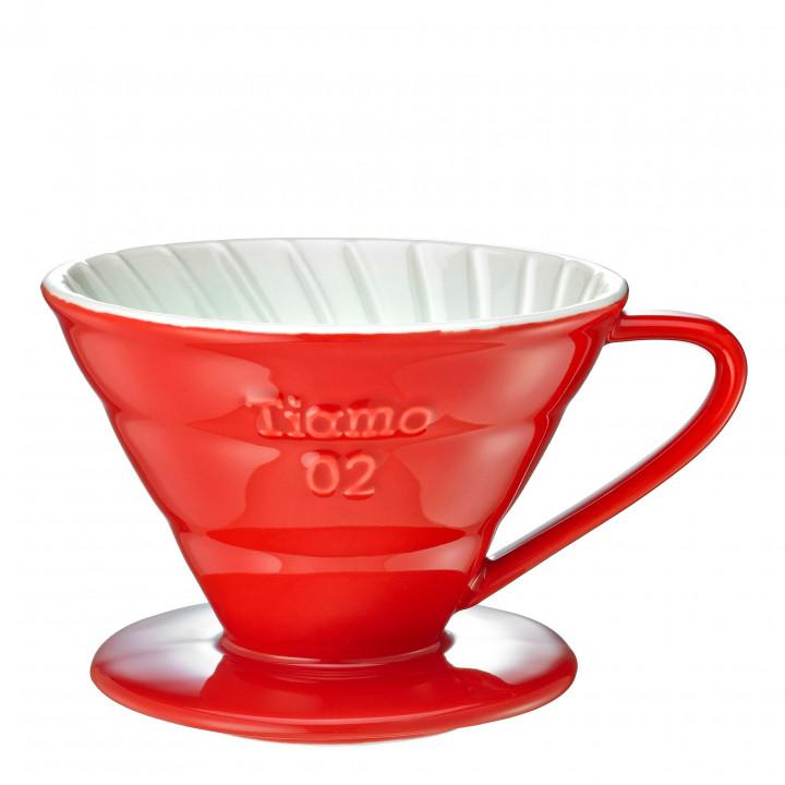 TIAMO DRIPPER V02 CERAMIC - RED