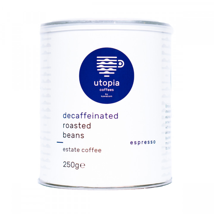 UTOPIA Decaf Roasted Coffee BEANS 250GR