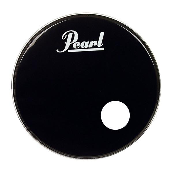 "PEARL DRUM HEAD 20"" BLACK&LOGO"