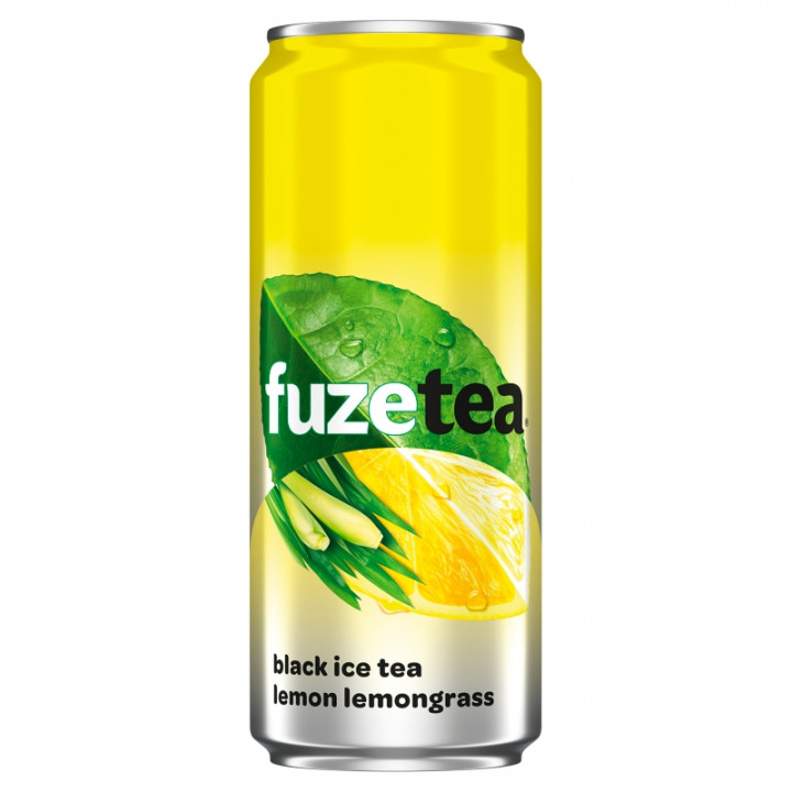 FUZE TEA BLACK ICE TEA LEMON LEMONGRASS 330ML