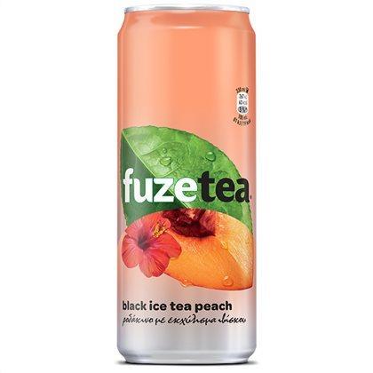 FUZE TEA BLACK ICE TEA PEACH & HIBISCUS 330ML
