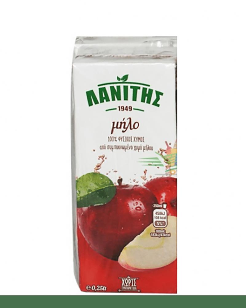 LANITIS APPLE JUICE 250ML