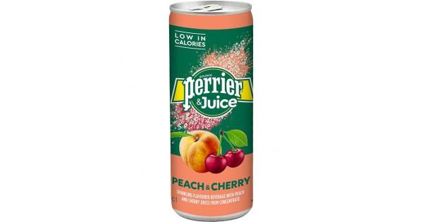 PERRIER & JUICE PEACH-CHERRY 250ml