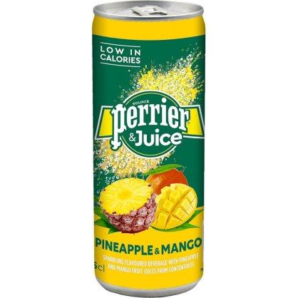 PERRIER & JUICE PINEAPP-MANGO 250ml