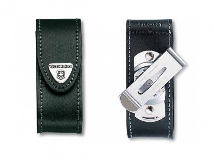 BELT POUCH BLACK WITH ROTATING CLIP