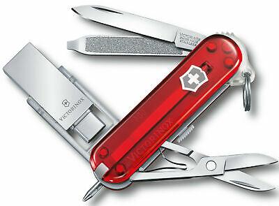 VICTORINOX WORK, USB3.0/3.1 58MM RED TRANSLUSCNET