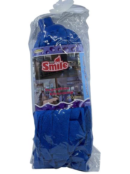 Smile - Superfine Fiber Mop Blue 200gms