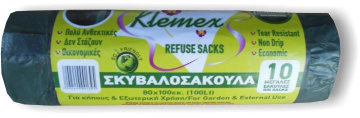 Klemex - Garbage Bags 85X110 10pcs