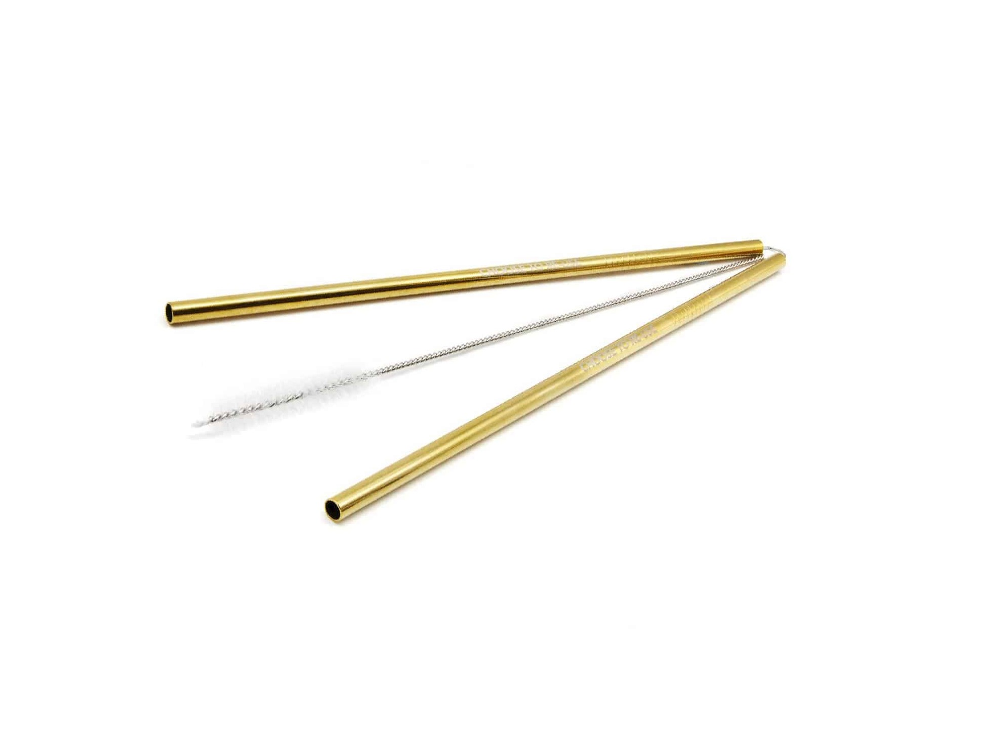 Ecoffee Reusable stainless steel Straws & Cleaner - Gold