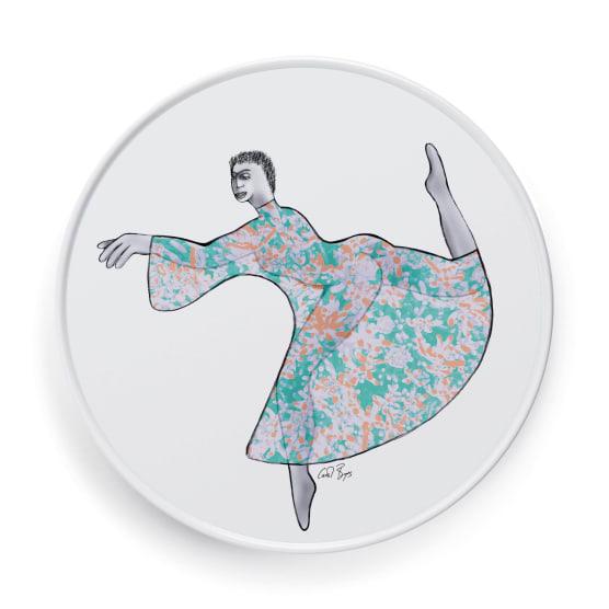 PLATTER ROUND 28cm - dancer