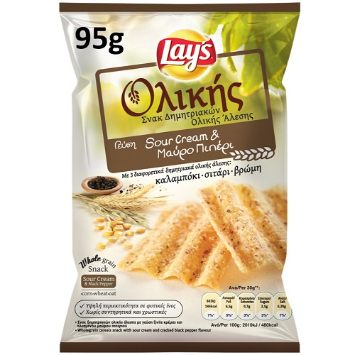 lays baked sour cream&black peper 95gr
