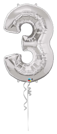 Giant Number 3 silver