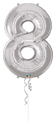 Giant Number 8 Silver
