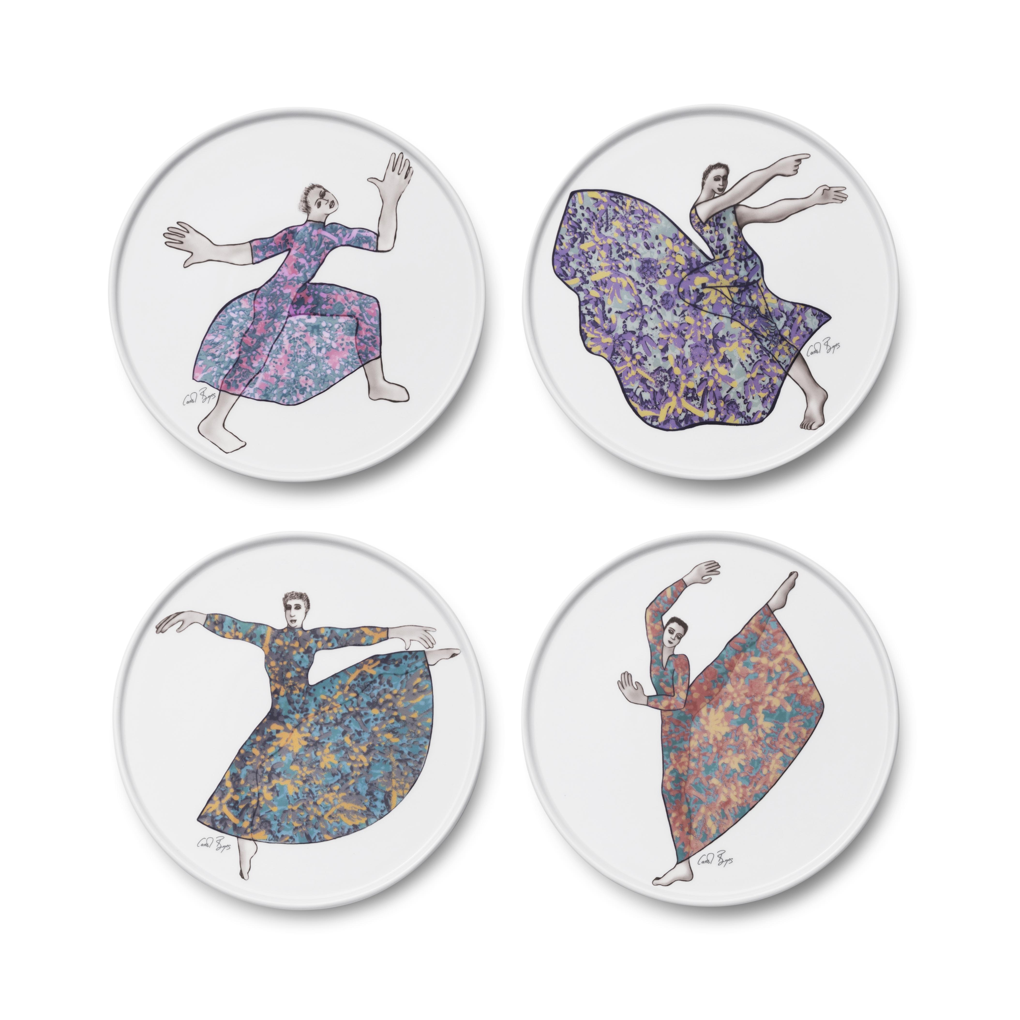 SIDE PLATE SET 4 - dancers