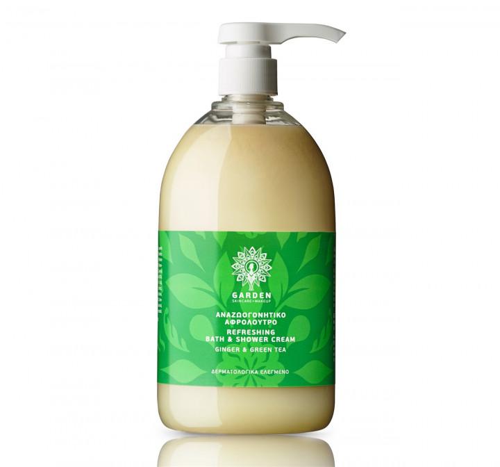 GARDEN refreshing bath & shower cream ginger & green tea 1lt
